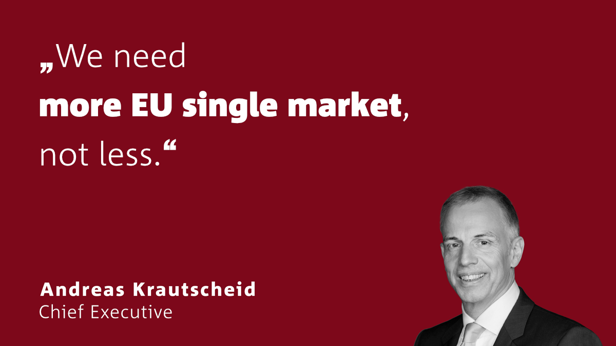 Krautscheid: We need more EU single market, not less