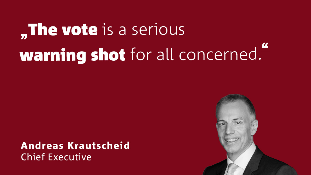 Association chief Andreas Krautscheid on the British House of Commons' rejection of t ..