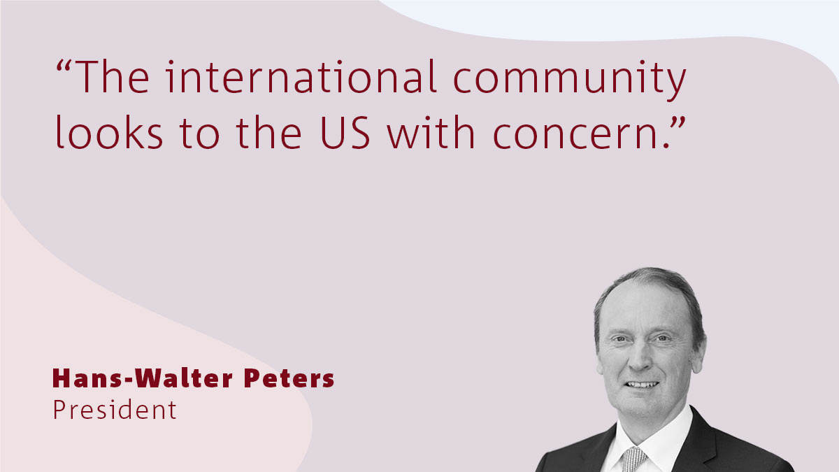 Banking association President Hans-Walter Peters on the US election