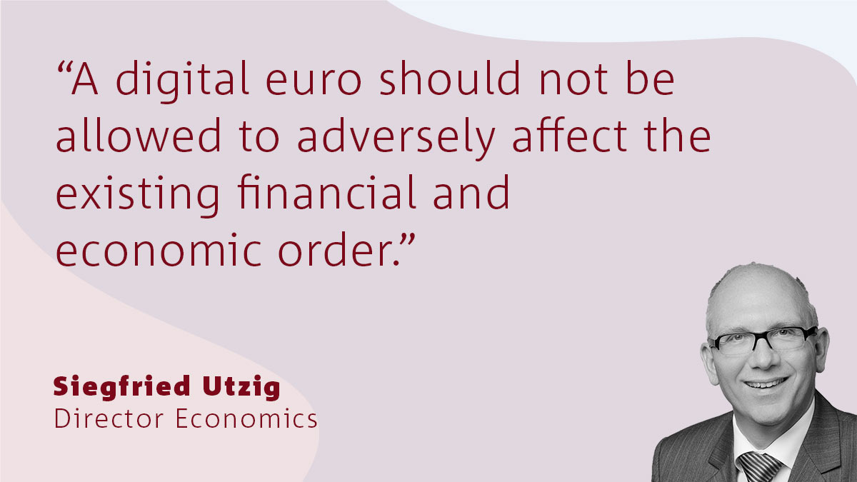 The digital Euro - its benefits and challenges for banks