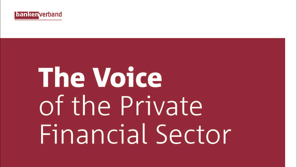 The Voice of the Private Financial Sector