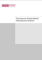 The German Private Banks' Ombudsman Scheme